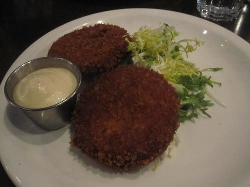 Crab cakes at Lucille's