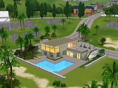 Luxury villa by the sea (The Sims 3)