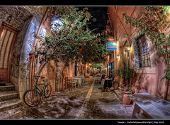202/365 - HDR - Crete.Rethymno.Bike.Night.@.1150x765 (Pawel Tomaszewicz) Tags: street camera new light shadow summer holiday fish eye colors bike architecture night photoshop canon buildings lens island greek photography eos lights islands photo high long exposure foto view quality creative kreta restaurants fisheye greece crete definition fotografia greekislands range hdr fable noc nocturno aparat pawel rethymno wakacje nocturn oko rethymnon kriti architektura  rethimnon grecja photomatix   expousure wyspa 6xp 400d wyspy eos400d 1200x800 jako fotografowie photoshopcs3 polscy zajebisty rybie  tomaszewicz paweltomaszewicz