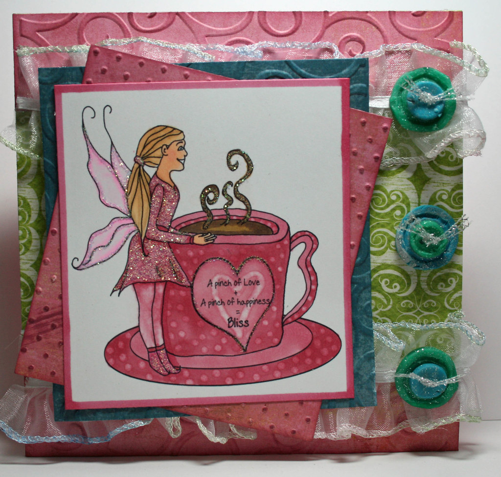 Cup O' Bliss card with sentiment