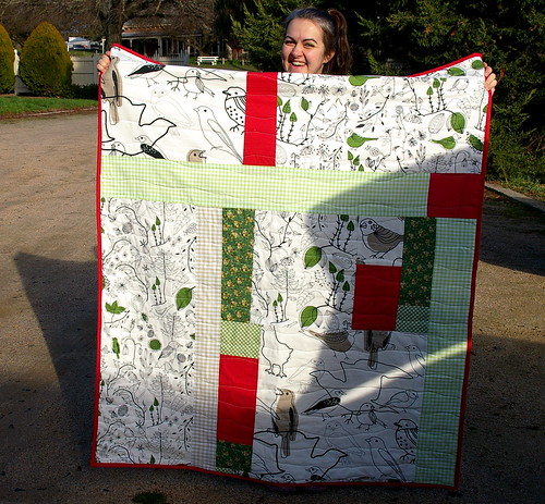 Magda with her new baby quilt!