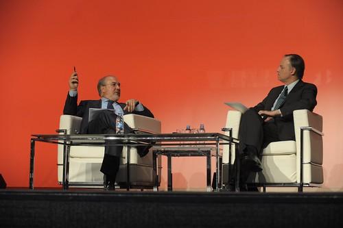 Pedro Solbes con Carlos Losada, director general de ESADE