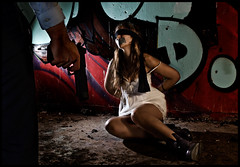 Kidnapping (Keep the Funk alive) Tags: abandoned girl umbrella sevilla mujer spain armas flash kidnapping rape graffity violence marta d200 handgun violation deserted traje pistola abuse vestido botas elegante maltrato abandonado secuestro violacion mordaza cullman sicario triggers alcaldeguadara strobist rapto tamron1750f28 atada ravishment metz54mz3 amordazada phottix crueltreatment retofs1 nissindi866 vicoctonypresidio