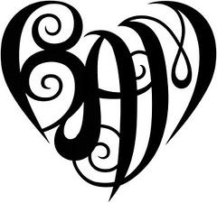 """BAM"" Heart Design"