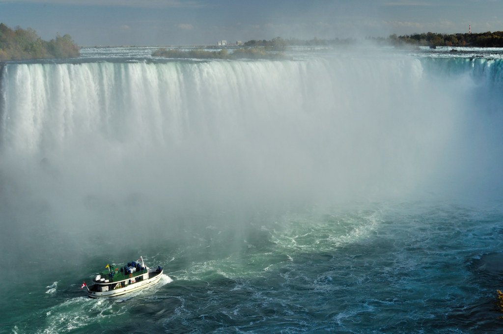 The Maid of the Mist at Niagara Falls, Ontario, Canada