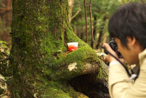 納豆を撮影する webnist さん