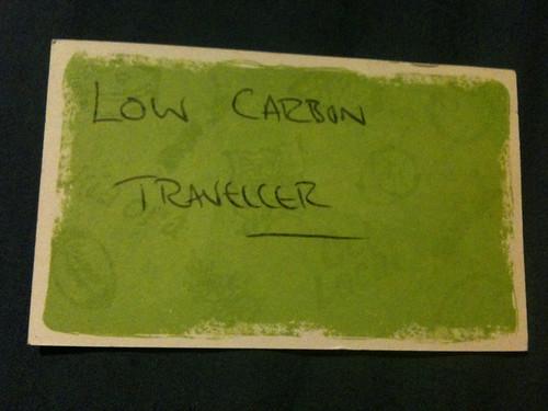 僕はLOW CARBON TRAVELLERだ。