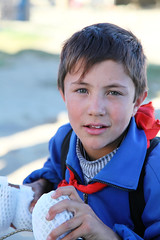 Blue eyes Tajik boy, Tashkurgan  (aygulmipo) Tags: china travel people photo culture uighur xinjiang silkroad   uyghur tajik ethnic centralasia  2010 pamir   tashkurgan  taxkorgan karakoramhighway  tashkorgan