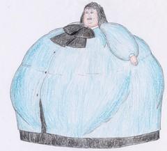 Jolene (VeronArmon) Tags: fat bbw ssbbw belly expansion inflation feeder feedee model woman lady huge giantess bow blouse silk satin squash squashing breasts big