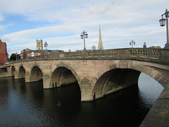 Bridge Over The Severn... (Marie on Flickr) Tags: bridge worcester river severn water lights lamps