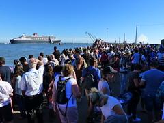 The Bridge 2017, le départ... (CorcuffR) Tags: bridge 2017 queen mary 2 liner st saint nazaire centenaire 1418 américain transatlantique course moteur voile