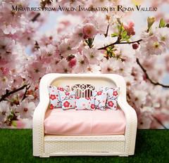 Cherry Blossom Sakura Pillows (wpnschick) Tags: miniature miniatureaccessories miniaturepillows barbiefurniture barbieaccessories barbiepillows 16thscale 112thscale
