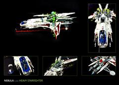 Nebula class Heavy Starfighter - details (Brick Martil) Tags: toy lego space spaceship starfighter nebula brickmartil science fiction ship shiptember