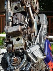 A Robot's leg (mikecogh) Tags: malacca robot leg mechanical parts iron cogs gears melaka