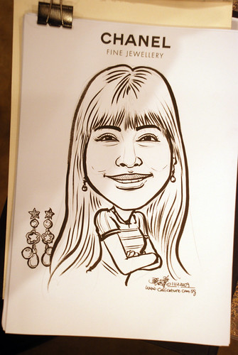 Caricature live sketching for Chanel Day 2 - 5