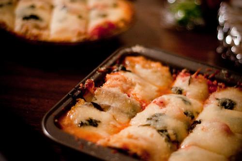 thanksgiving potluck - eggplant parmesan