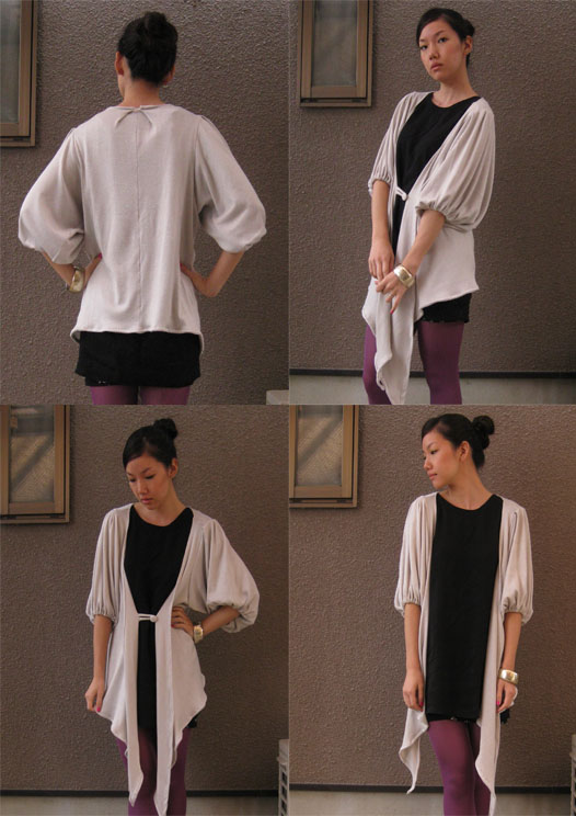 bubble sleeve cardigan by Vivat Veritas