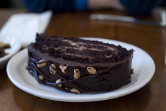 Chocolate Peanutbutter Cake-Peacefood Cafe