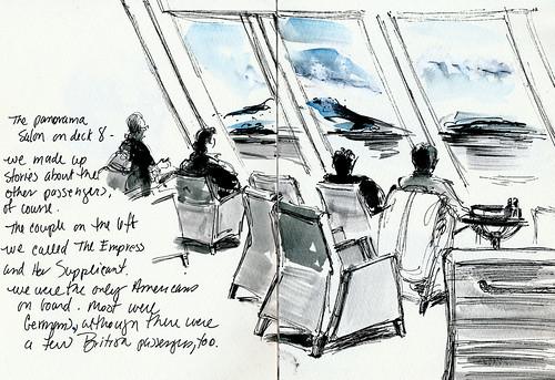 Panorama salon, Norwegian voyage