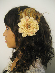 Feather & Flower Clip