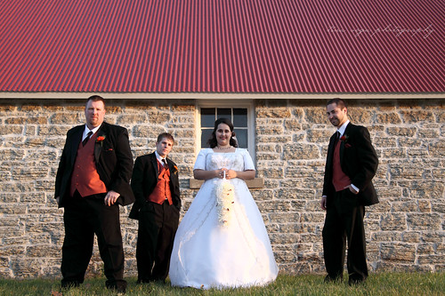 bride and the guys