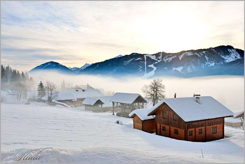 Weissensee - mountain lake in Austria