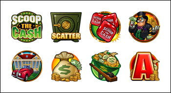 free Scoop the Cash slot game symbols