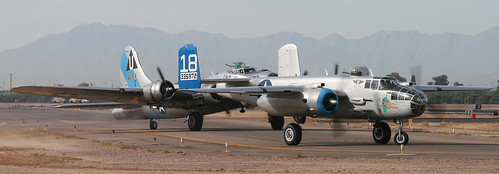 Warbird picture - B-17 Bombers - Sentimental Journey and Maid in the Shade