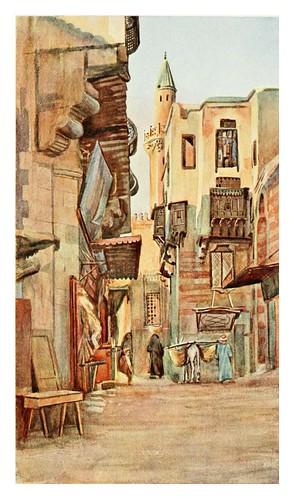 013-Una calle cerca del Gamaliyeh en el Cairo-Cairo, Jerusalem, and Damascus..1907- Margoliouth D. S.