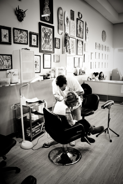 Tattoo Session at El Clasico in Echo Park, CA
