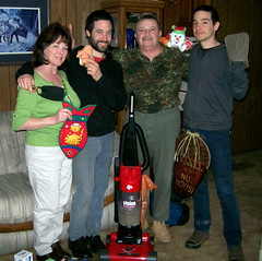 The Gervasi Family -- and My Vacuum Cleaner -- At Christmas (josephagervasi) Tags: christmas family mom joseph punk dad bull hardcore horror 2009 exhumedfilms diabolikdvd gervasi