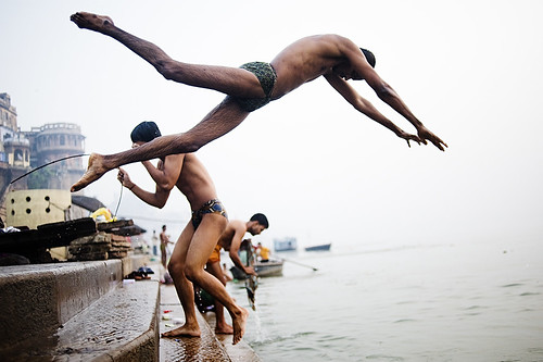 Bathers at Scindia Ghat