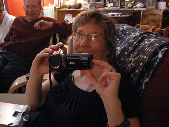Alyce With Her New Camera (Click to enlarge)