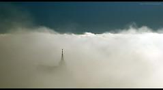 Above the clouds (elkarrde) Tags: sky cloud church fog digital promo focus pentax bluesky manual manualfocus twop soligor k100d whitefog 85205 justpentax pentaxk100dsuper pentaxart soligor85205mmf38