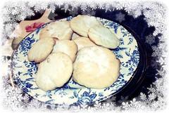 sugar cookies in snow