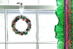 button wreath (Ranedrop Productions) Tags: handmade curtains buttonwreath