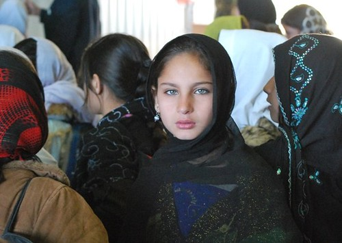 female student at 1st Kandahar Wing open house