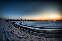 Winter Sunset (Frenklin) Tags: winter sunset snow zonsondergang sneeuw groningen hdr vinkhuizen
