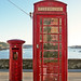 Phonebox and pillarbox, Greenbank, Falmouth