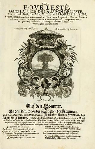 025-Divisa 2 tapiz del Verano-Tapisseries du roy, ou sont representez les quatre elemens 1690- Sebastien Le Clerc