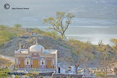 Barli Masiti Mosque at  Malahi Tola (Commoner28th) Tags: pakistan light white building tree water graveyard architecture river flow fort muslim islam tomb mosque punjab ahmed nwfp indus agha masjed waseem peshawer attock mywinners abaseen commoner28th malaitola