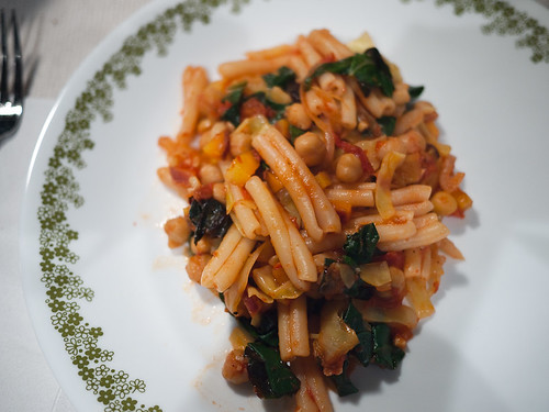 Chard, Chickpea, and Cabbage Pasta