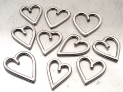 Stainless Steel Heart Pendants