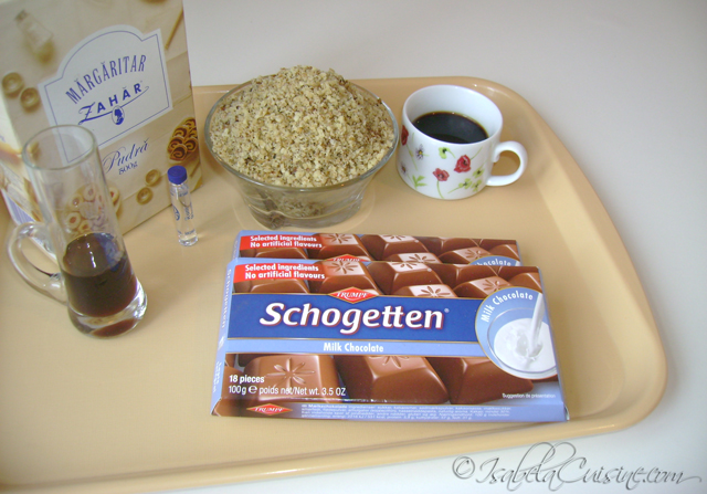 Chocolates, nuts and coffee