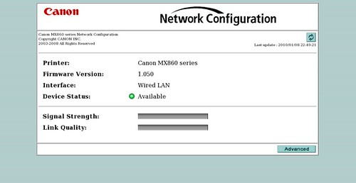 Canon MX860 Setup