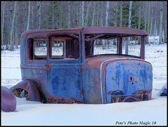 HDR #342 - Old Blue (Pete's Photo Magic) Tags: old canada abandoned car vintage pentax machine forgotten alberta abandonment hdr 3xp photomatix k20d