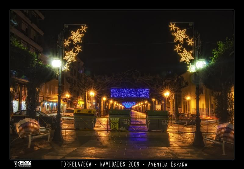 Torrelavega - Avenida de España - Navidades 2009