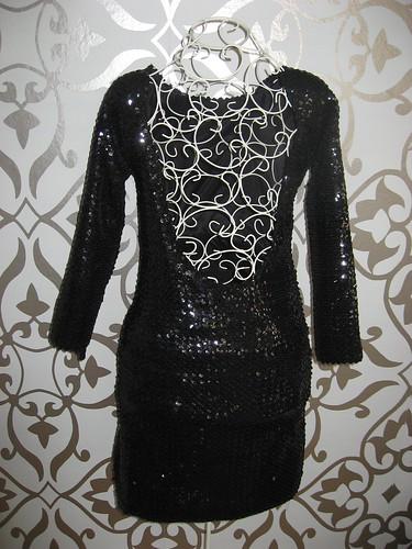 vestido pailletes negras cristina n piña