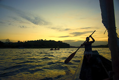 The truth is that we live out our lives putting off all that can be put off; perhaps we all know deep down that we are immortal and that sooner or later all men will do and know all things. (itala2007) Tags: sunset brazil people man nature river canoe bahia canoa soulscapes itala2007 mastersgallery worldsartgallery