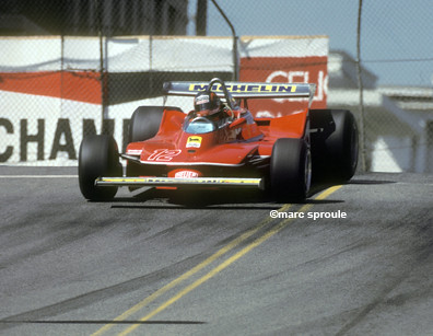 Gilles Villeneuve Turn One Long Beach F1 1979